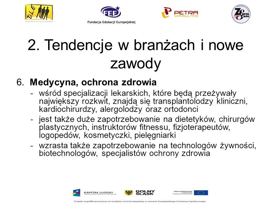 2.Tendencje w branżach i nowe zawody 6.