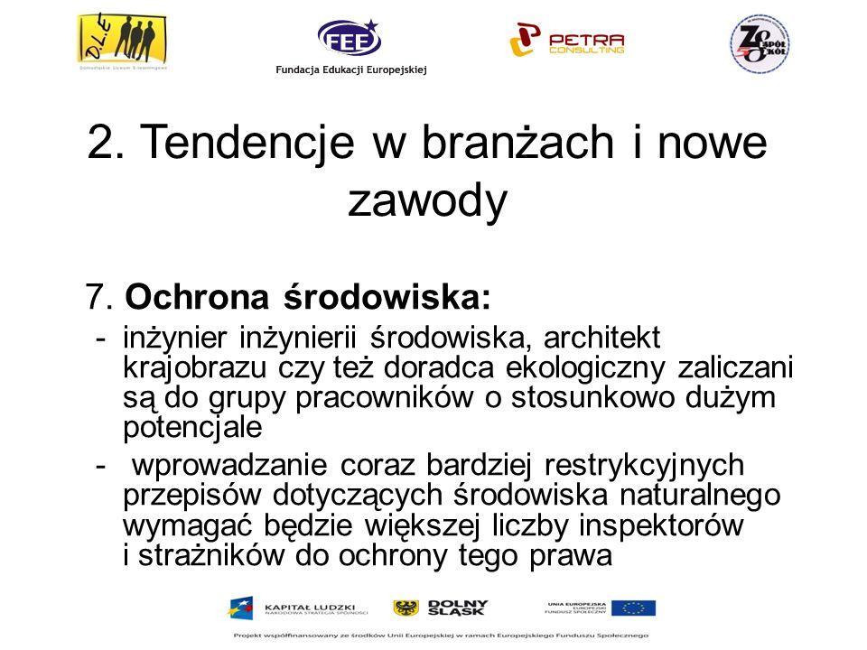 2.Tendencje w branżach i nowe zawody 7.