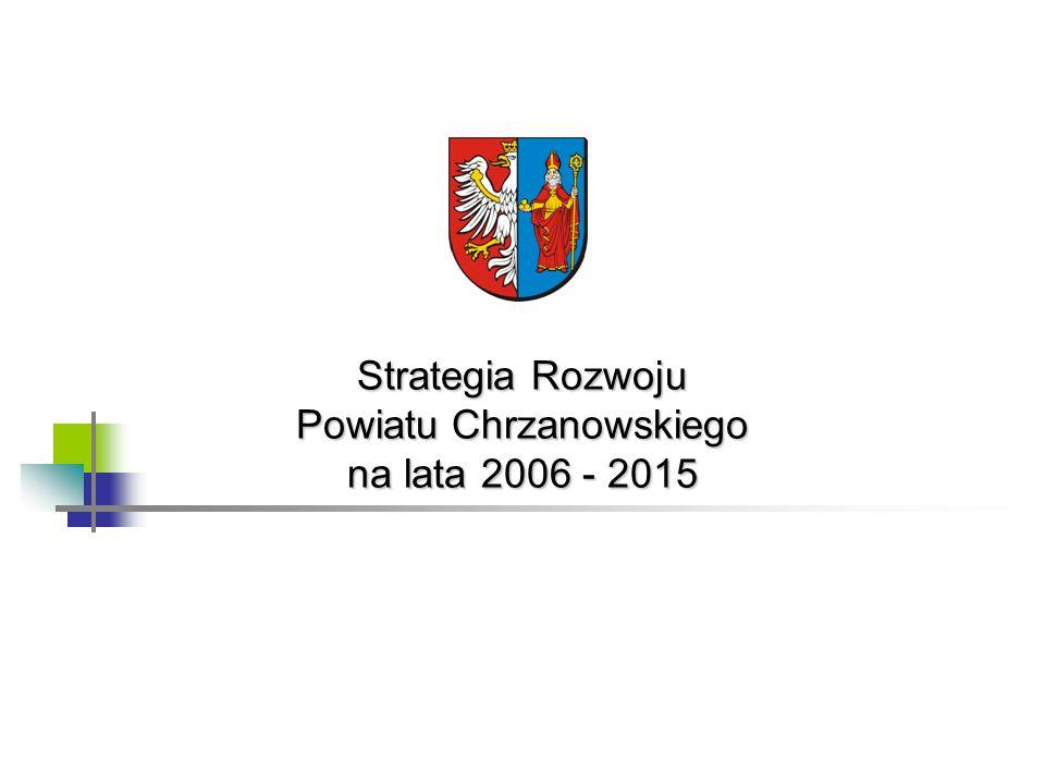 Strategia Rozwoju Powiatu Chrzanowskiego na lata 2006 - 201542 Autorzy opracowania pragną podziękować wszystkim członkom Konwentu Strategicznego za poświęcony czas, żarliwość w podejściu do spraw publicznych oraz merytoryczne zaangażowanie w procesie budowania Strategii Rozwoju Powiatu Chrzanowskiego na lata 2006 - 2015.