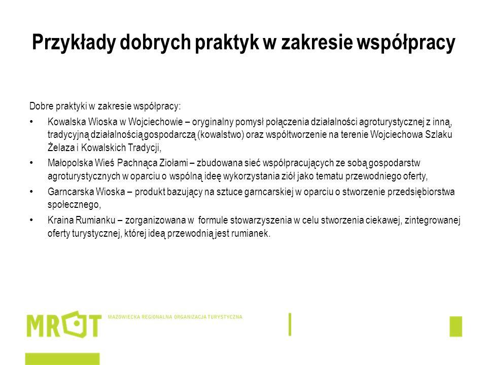 Przykłady dobrych praktyk w zakresie współpracy Dobre praktyki w zakresie współpracy: Kowalska Wioska w Wojciechowie – oryginalny pomysł połączenia dz