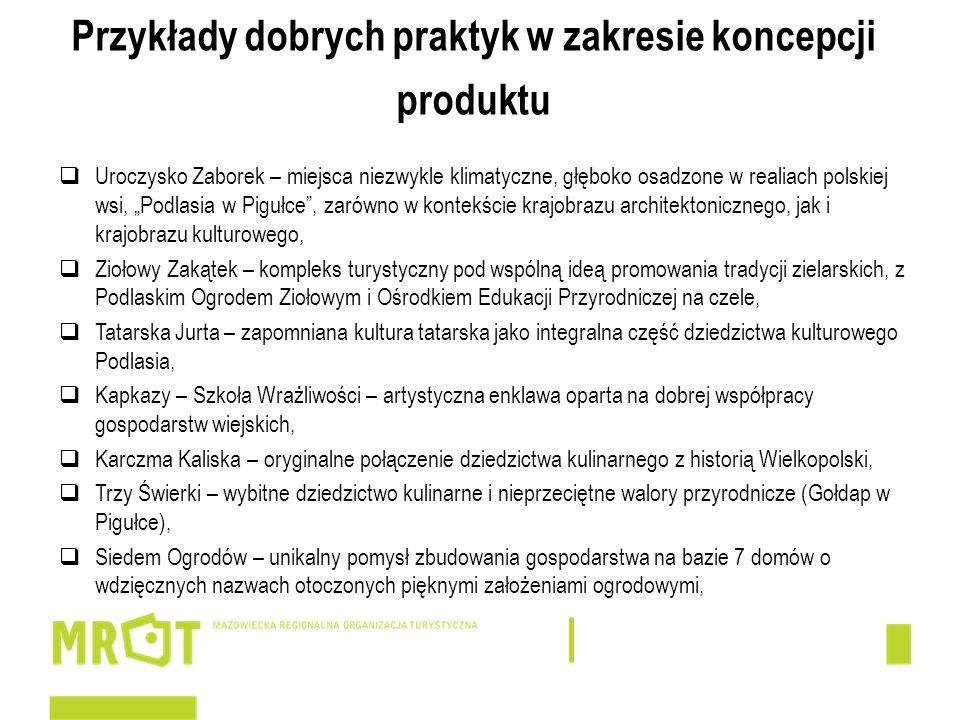 Przykłady dobrych praktyk w zakresie koncepcji produktu Uroczysko Zaborek – miejsca niezwykle klimatyczne, głęboko osadzone w realiach polskiej wsi, P