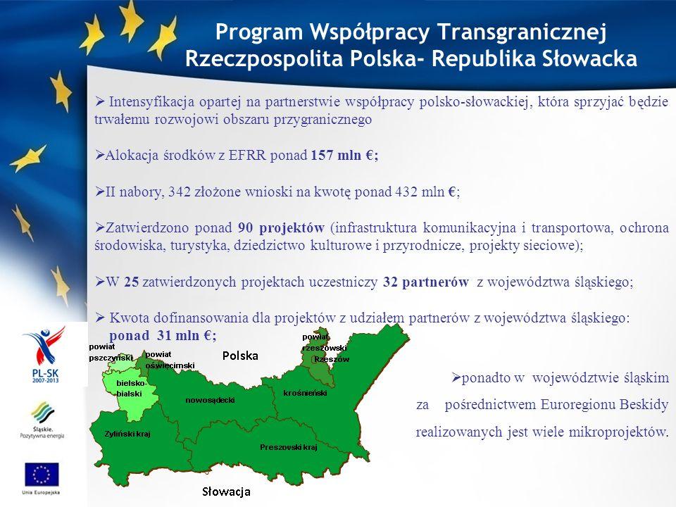 projekty polsko-słowackie partnerzy z obu stron granicy (obszar kwalifikowalny), co najmniej 2 z 4 kryteriów współpracy (przygotowanie, realizacja, finansowanie, personel), zasada partnera wiodącego, umowa o dofinansowanie, umowa partnerska, minimalne dofinansowanie 50 tyś euro (poniżej tzw.