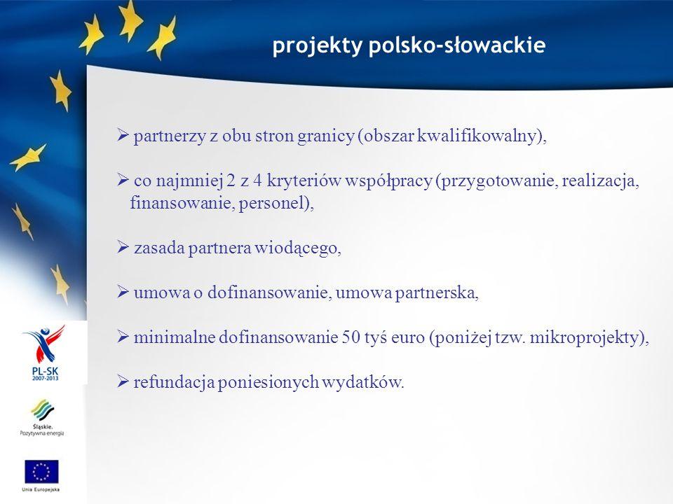 PWT PL-SK I oś priorytetowa Infrastruktura komunikacyjna i transportowa 37 777 863 Infrastruktura ochrony środowiska 29 907 474