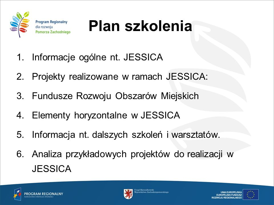 Cele społeczne projektów Szczególne cele, jakie powinny realizować projekty miejskie w woj.