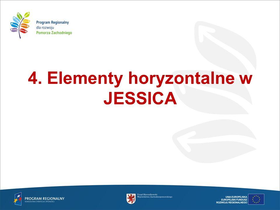 4. Elementy horyzontalne w JESSICA