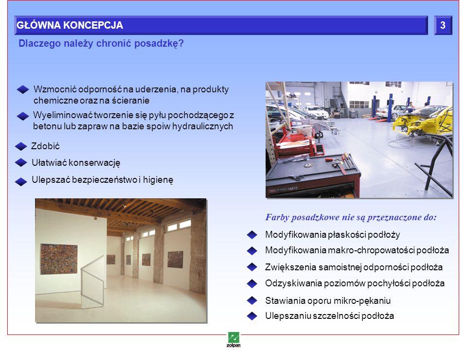 4 Wzmocnić odporność na uderzenia, na produkty chemiczne oraz na ścieranie Farby posadzkowe nie są przeznaczone do: Dlaczego należy chronić posadzkę?