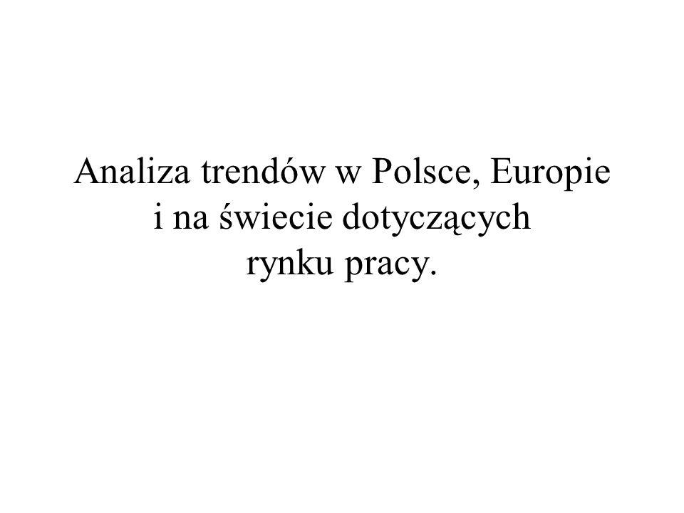 Analiza trendów w Polsce, Europie i na świecie dotyczących rynku pracy.