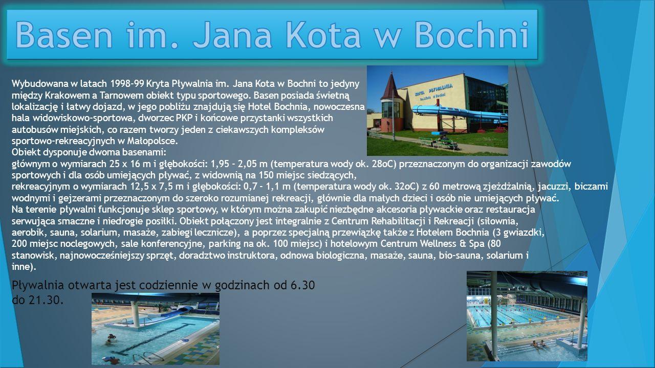 Wybudowana w latach 1998-99 Kryta Pływalnia im.