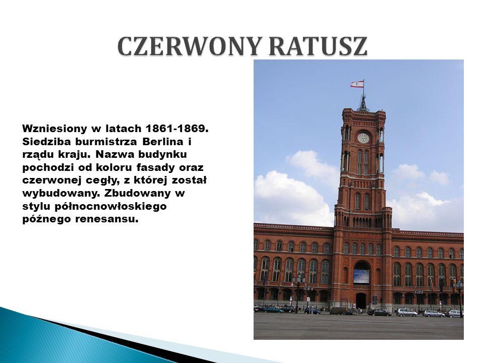 Wzniesiony w latach 1861-1869. Siedziba burmistrza Berlina i rządu kraju. Nazwa budynku pochodzi od koloru fasady oraz czerwonej cegły, z której zosta