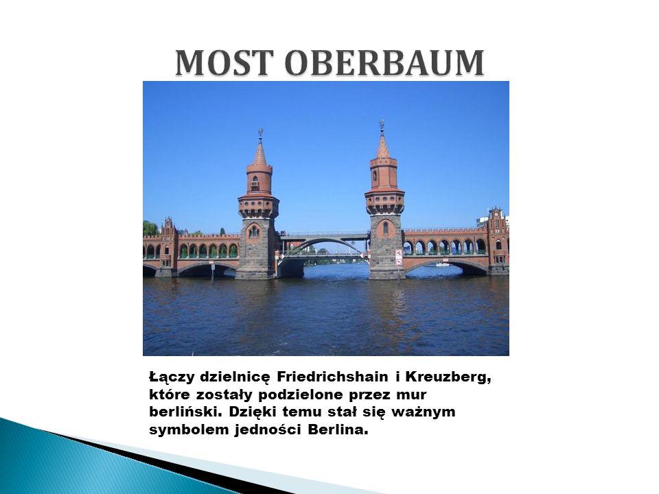 Łączy dzielnicę Friedrichshain i Kreuzberg, które zostały podzielone przez mur berliński.