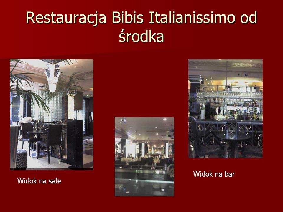 Restauracja Bibis Italianissimo od środka Widok na sale Widok na bar