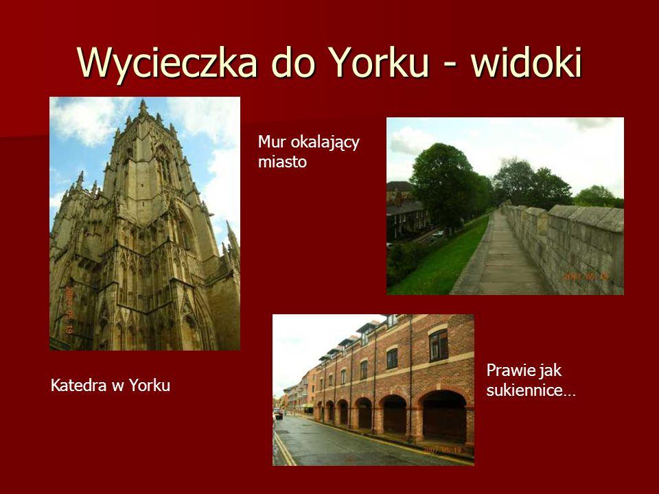 Wycieczka do Yorku - widoki Katedra w Yorku Mur okalający miasto Prawie jak sukiennice…
