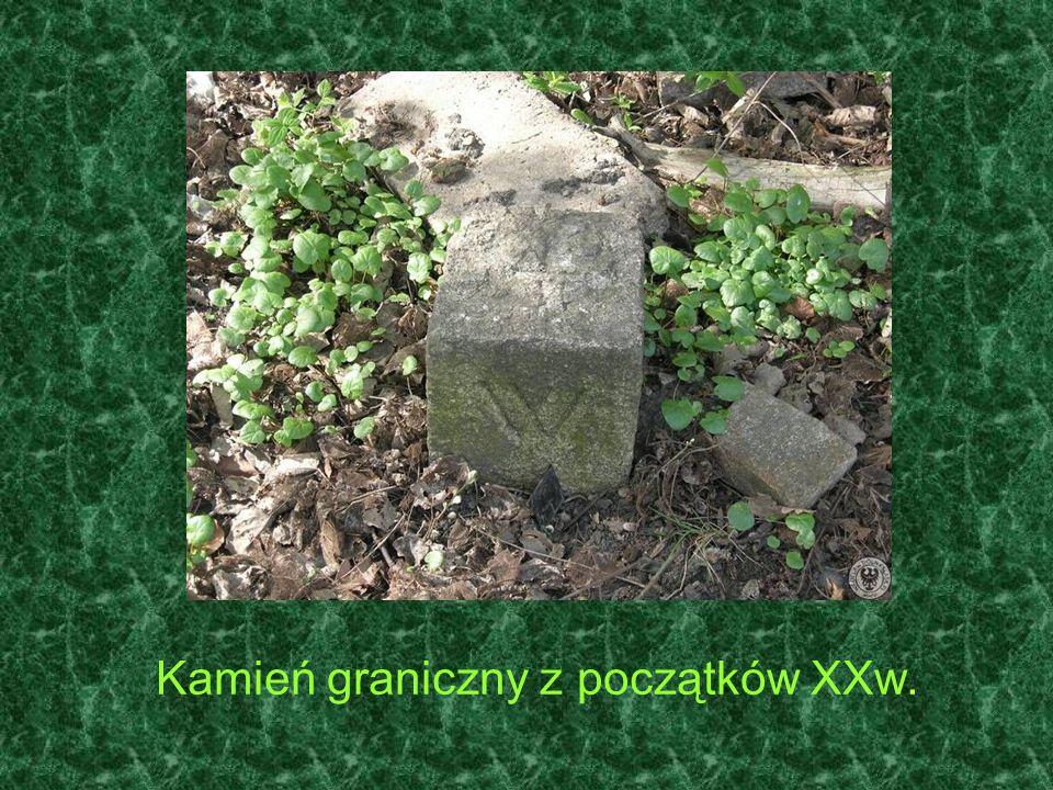 Kamień graniczny z początków XXw.