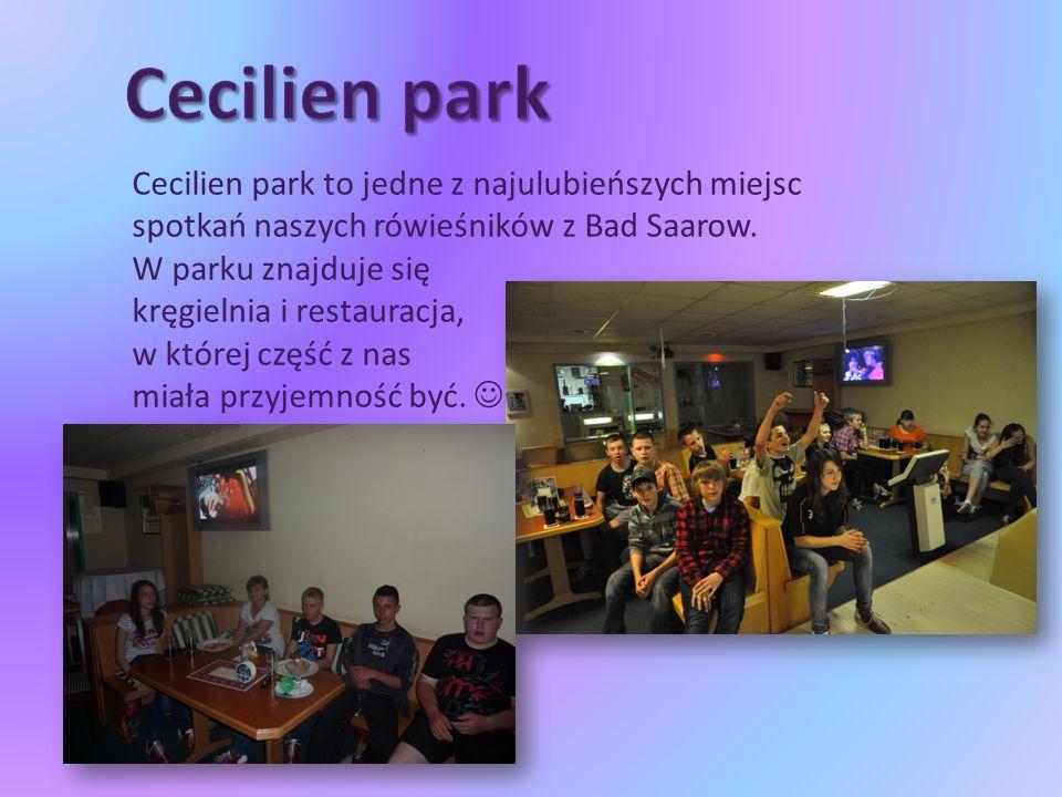Cecilien park to jedne z najulubieńszych miejsc spotkań naszych rówieśników z Bad Saarow.