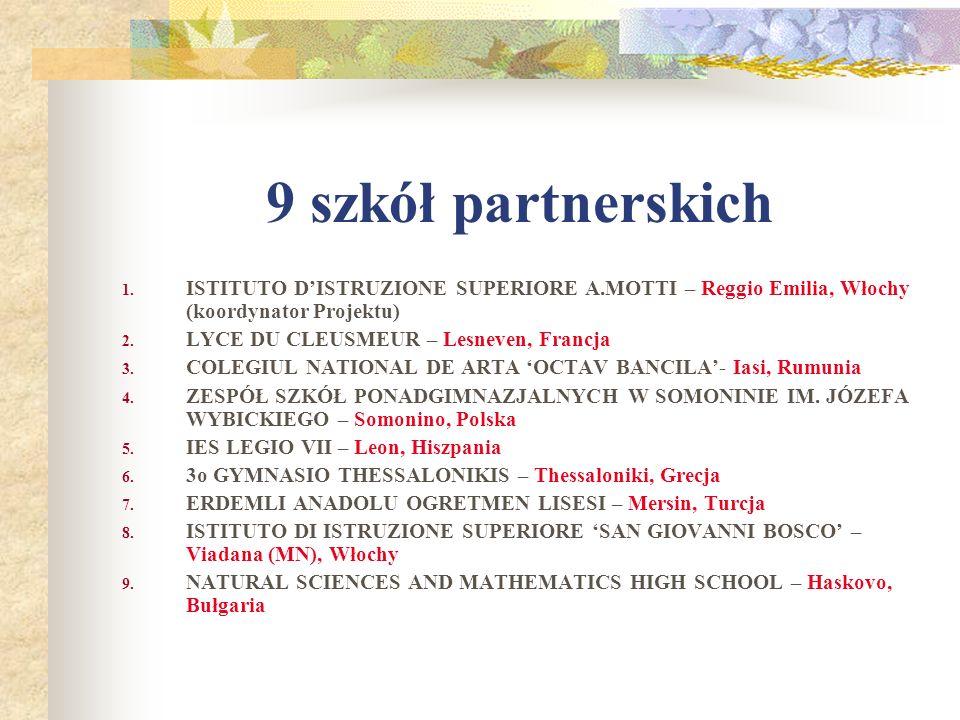 9 szkół partnerskich 1.