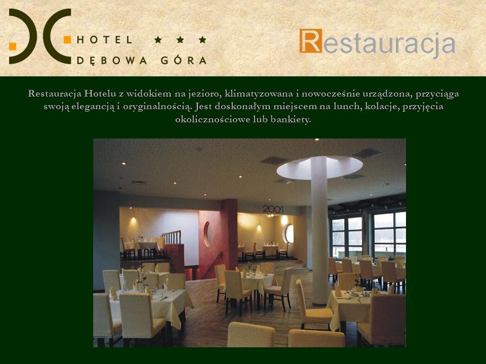 Restauracja Hotelu z widokiem na jezioro, klimatyzowana i nowocześnie urządzona, przyciąga swoją elegancją i oryginalnością. Jest doskonałym miejscem