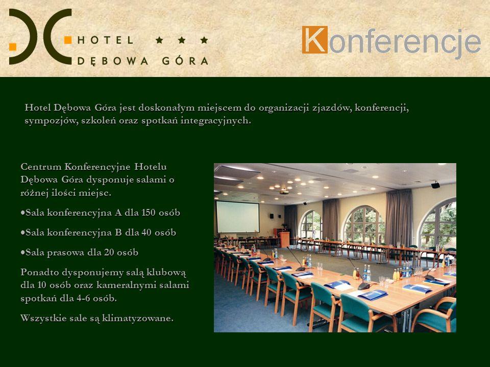 Centrum Konferencyjne Hotelu Dębowa Góra dysponuje salami o różnej ilości miejsc. Sala konferencyjna A dla 150 osób Sala konferencyjna A dla 150 osób