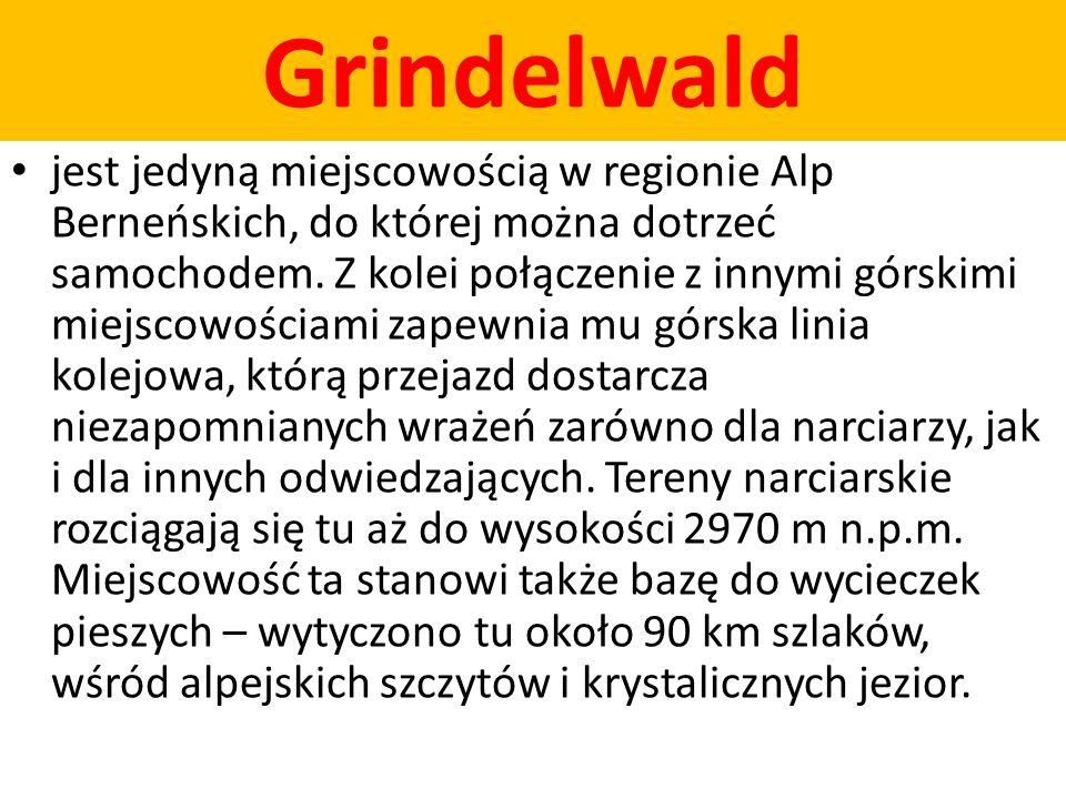 Grindelwald jest jedyną miejscowością w regionie Alp Berneńskich, do której można dotrzeć samochodem. Z kolei połączenie z innymi górskimi miejscowośc