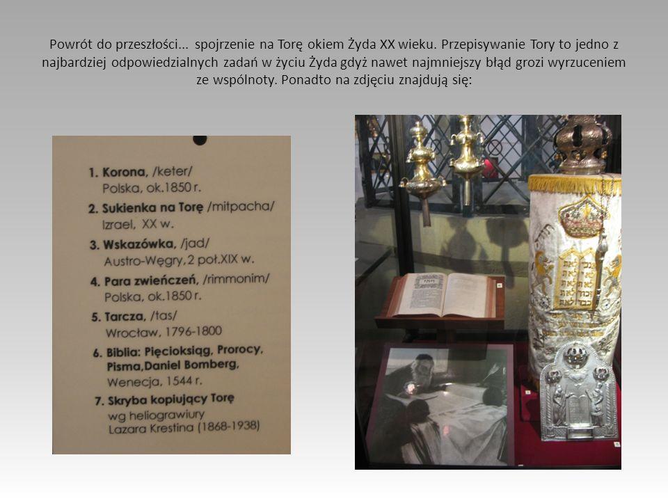 Powrót do przeszłości... spojrzenie na Torę okiem Żyda XX wieku. Przepisywanie Tory to jedno z najbardziej odpowiedzialnych zadań w życiu Żyda gdyż na