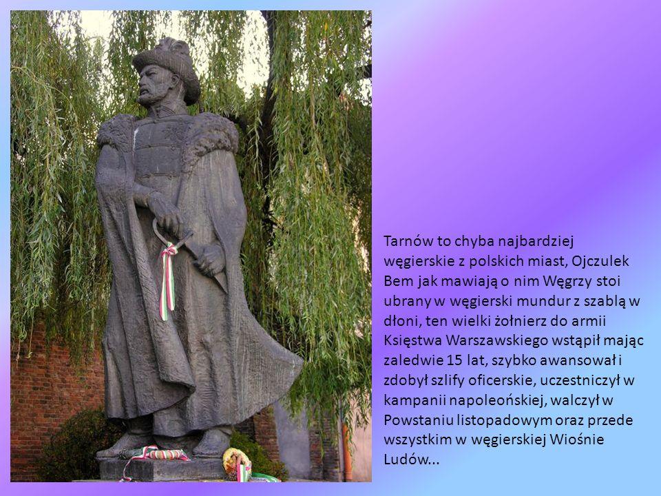 Gdzie wąską furtką po schodkach dotrzecie pod pomnik chyba największego z Tarnowian, gen. Józefa Bema, tutaj się urodził i tutaj w jakże osobliwym mie