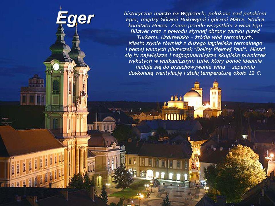 Eger historyczne miasto na Węgrzech, położone nad potokiem Eger, między Górami Bukowymi i górami Mátra. Stolica komitatu Heves. Znane przede wszystkim