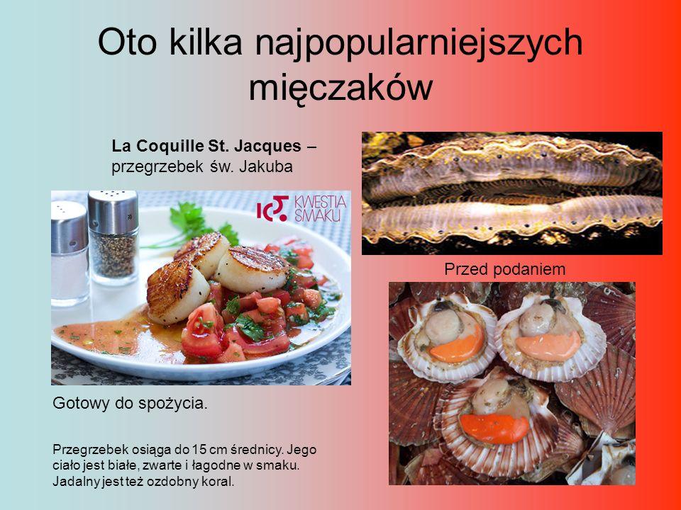 Les Moules – omułki, zwane też mulami Najpopularniejszy sposób podawania muli Gotuje się je w dużym garnku, dodając świeże zioła prowansalskie (miętę, rozmaryn, bazylię, tymianek).