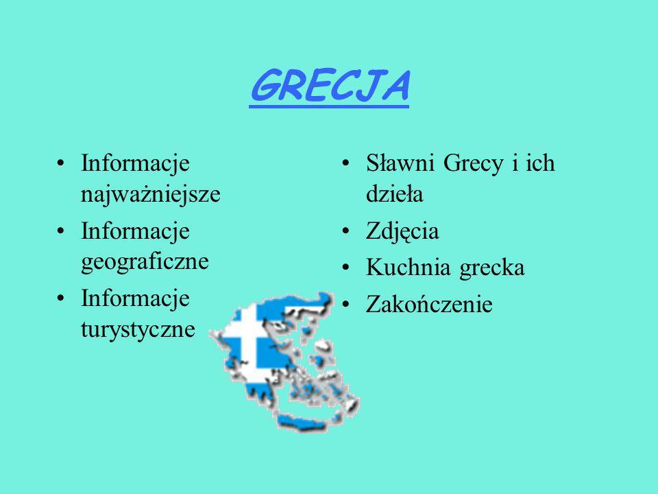 GRECJA Prezentację przygotowała Agata Hublewska II b