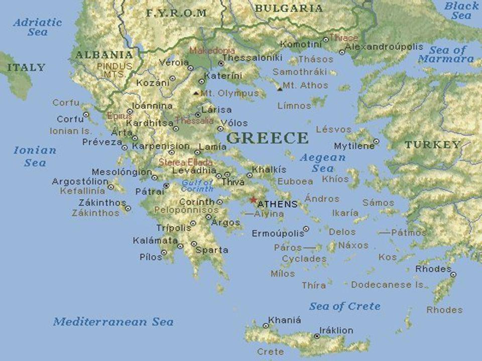 GRECJA Informacje najważniejsze Informacje geograficzne Informacje turystyczne Sławni Grecy i ich dzieła Zdjęcia Kuchnia grecka Zakończenie