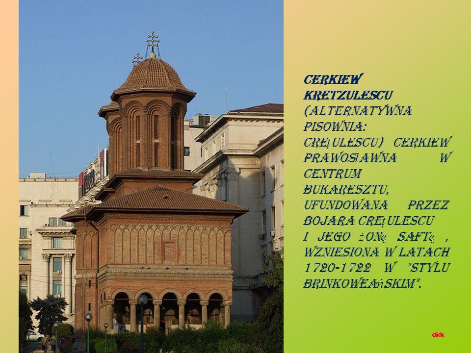 Pa ł ac Cre ţ ulescu (rum: Palatul Cre ţ ulescu, alternatywna pisownia Kretzulescu) – zabytkowy budynek w pobli ż u Ogrodów Ci ş migiu na ulicy Ş tirb