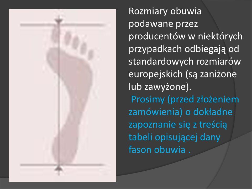 Długość stopy [cm] Numeracja typowa Długość stopy [cm] Numeracja typowa 23362742 24372843 25382945 26403046 Tabela pomiarów