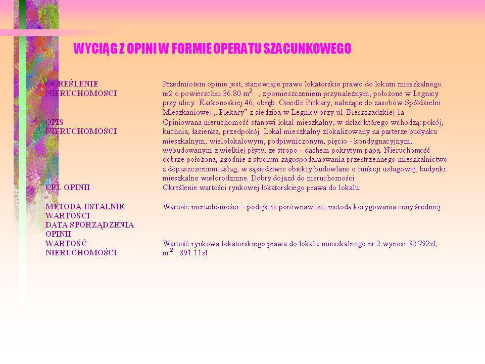 20 Rep 13197/2005, transakcja dnia 12-12-2005, miasto Legnica, województwo dolnośląskie, ul..Galaktyczna 12, własnościowe spółdzielcze prawo do lokalu mieszkalnego nr 22, typu M.-3, składające się z dwóch pokoi, kuchni, łazienki, wc, przedpokoju, o powierzchni użytkowej 41,81 m 2, KW-brak, należące do zasobów Legnickiej Spółdzielni Mieszkaniowej z siedzibą w Legnicy, cena transakcyjna 57 000 zł, cena za 1m 2 wynosi 1 363,31 zł 21 Rep 13207/2005, transakcja dnia 12-12-2005, miasto Legnica, województwo dolnośląskie, ul..Oświęcimska 17, własnościowe spółdzielcze prawo do lokalu mieszkalnego nr 10, typu M.-4, składające się z dwóch pokoi, kuchni, łazienki, wc, przedpokoju, o powierzchni użytkowej 58,91 m 2, KW-brak, należące do zasobów Legnickiej Spółdzielni Mieszkaniowej z siedzibą w Legnicy, cena transakcyjna 59 000 zł, cena za 1m 2 wynosi 1 001,52 zł 22 Rep 8435/2005, transakcja dnia 12-12-2005, miasto Legnica, województwo dolnośląskie, ul.Chojnowskiej 15, własnościowe spółdzielcze prawo do lokalu mieszkalnego nr 5, typu M.-2,, składające się z pokoju, kuchni, łazienki, wc, przedpokoju, o powierzchni użytkowej 26,00m 2, KW-brak, należące do zasobów Legnickiej Spółdzielni Mieszkaniowej z siedzibą w Legnicy, cena transakcyjna 38 000 zł, cena za 1m 2 wynosi 1 461,53 zł 23 Rep 12847/2005, transakcja dnia 02-12-2005, miasto Legnica, województwo dolnośląskie, ul..Wielkiej Niedźwiedzicy 4, własnościowe spółdzielcze prawo do lokalu mieszkalnego nr 1, typu M.-3, składające się z dwóch pokoi, kuchni, łazienki, wc, przedpokoju, o powierzchni użytkowej 41,30 m 2, KW-brak, należące do zasobów Legnickiej Spółdzielni Mieszkaniowej z siedzibą w Legnicy, cena transakcyjna 74 000 zł, cena za 1m 2 wynosi 1 791,76 zł 24 Rep 12551/2005, transakcja dnia 28-11-2005, miasto Legnica, województwo dolnośląskie, ul.