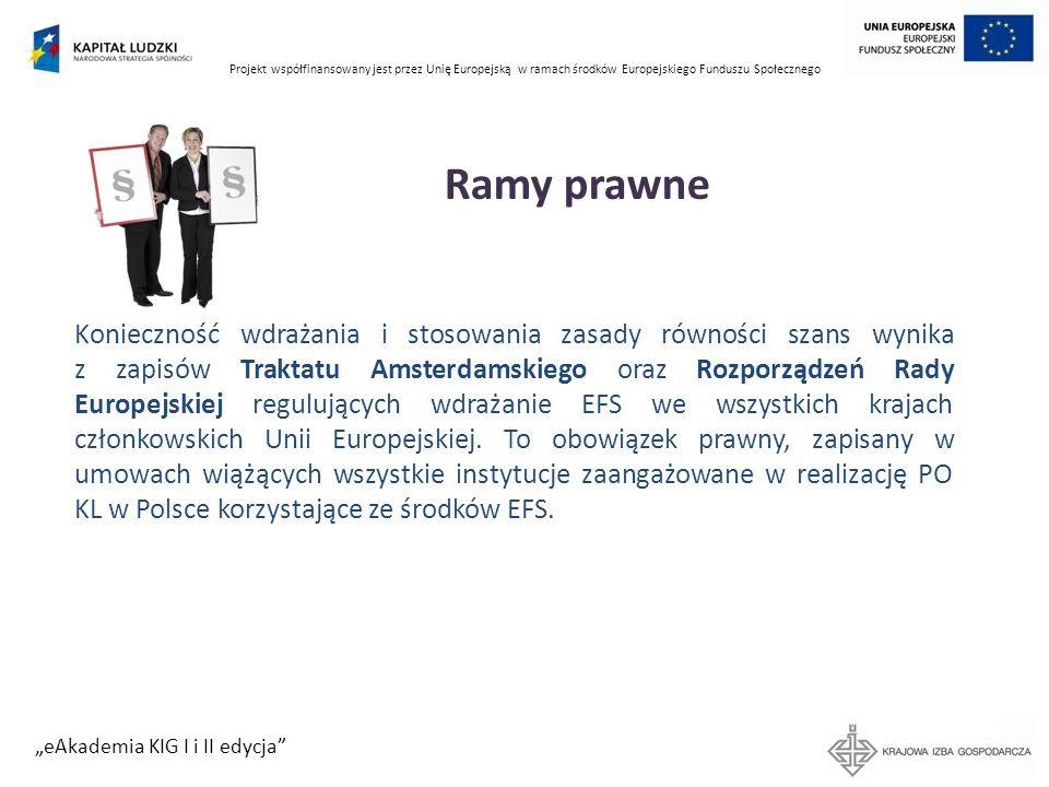 Projekt współfinansowany jest przez Unię Europejską w ramach środków Europejskiego Funduszu Społecznego eAkademia KIG I i II edycja Źródło Balcerzak-Paradowska, Czy uprawnienia pracownicze sprzyjają zatrudnieniu kobiet, Instytut Pracy i Spraw Socjalnych C.