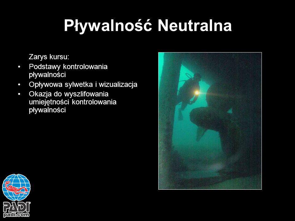 Pływalność Neutralna Zarys kursu: Podstawy kontrolowania pływalności Opływowa sylwetka i wizualizacja Okazja do wyszlifowania umiejętności kontrolowan