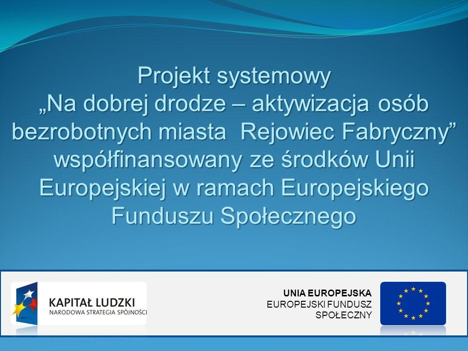 Projekt systemowy Na dobrej drodze – aktywizacja osób bezrobotnych miasta Rejowiec Fabryczny współfinansowany ze środków Unii Europejskiej w ramach Eu
