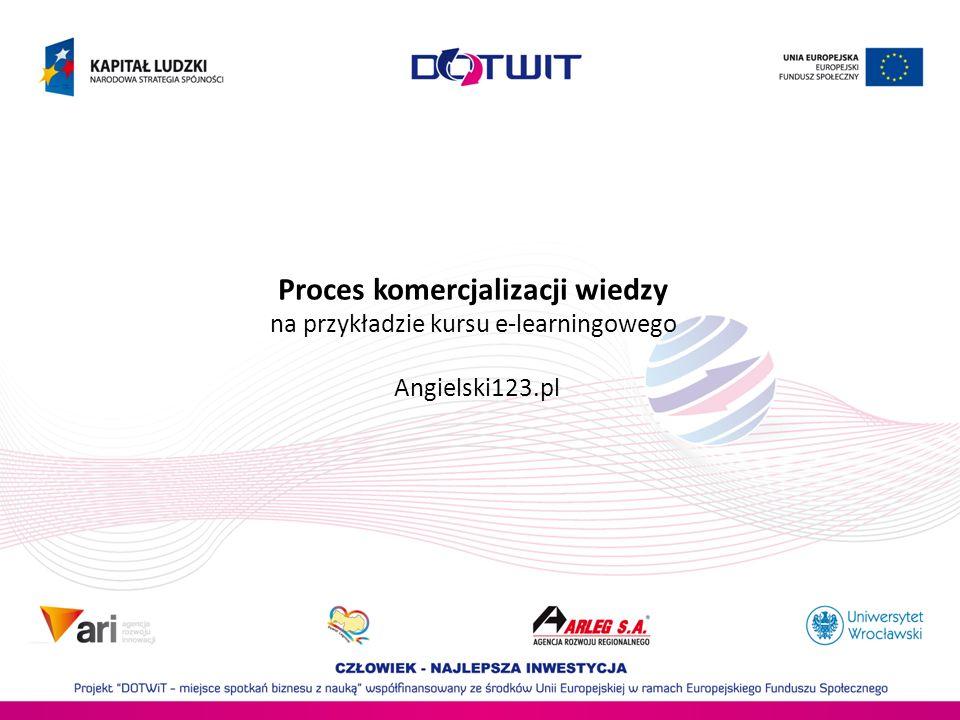 Proces komercjalizacji wiedzy na przykładzie kursu e-learningowego Angielski123.pl