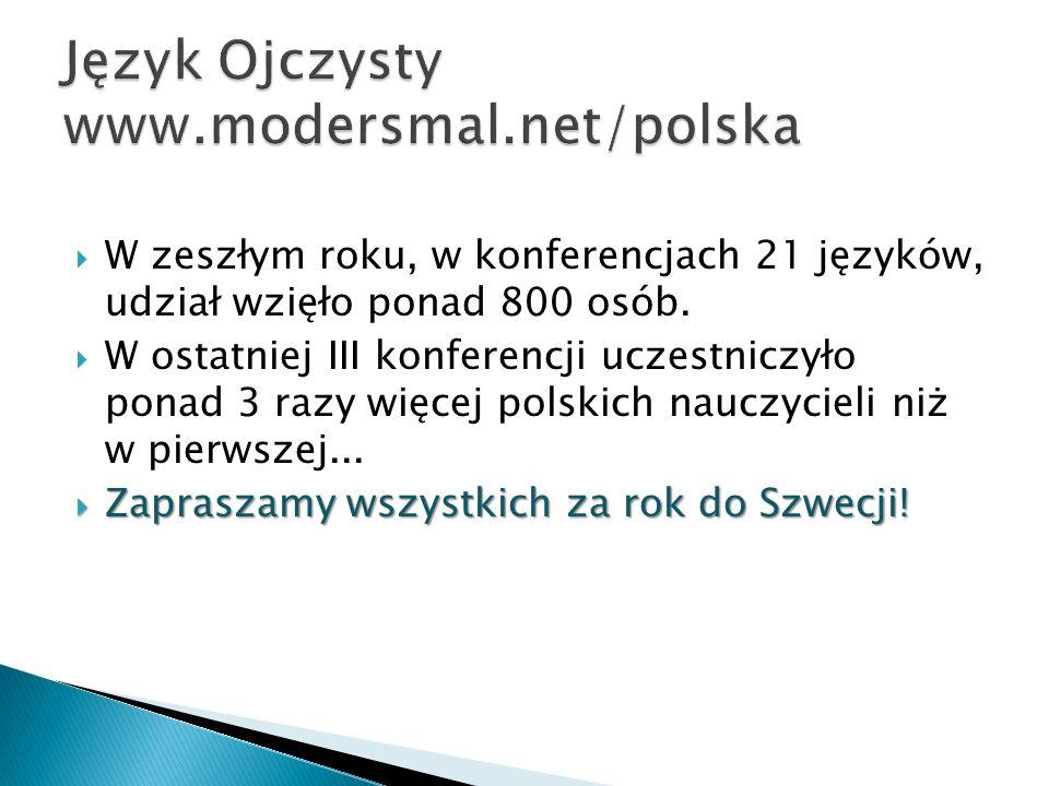 W zeszłym roku, w konferencjach 21 języków, udział wzięło ponad 800 osób. W ostatniej III konferencji uczestniczyło ponad 3 razy więcej polskich naucz