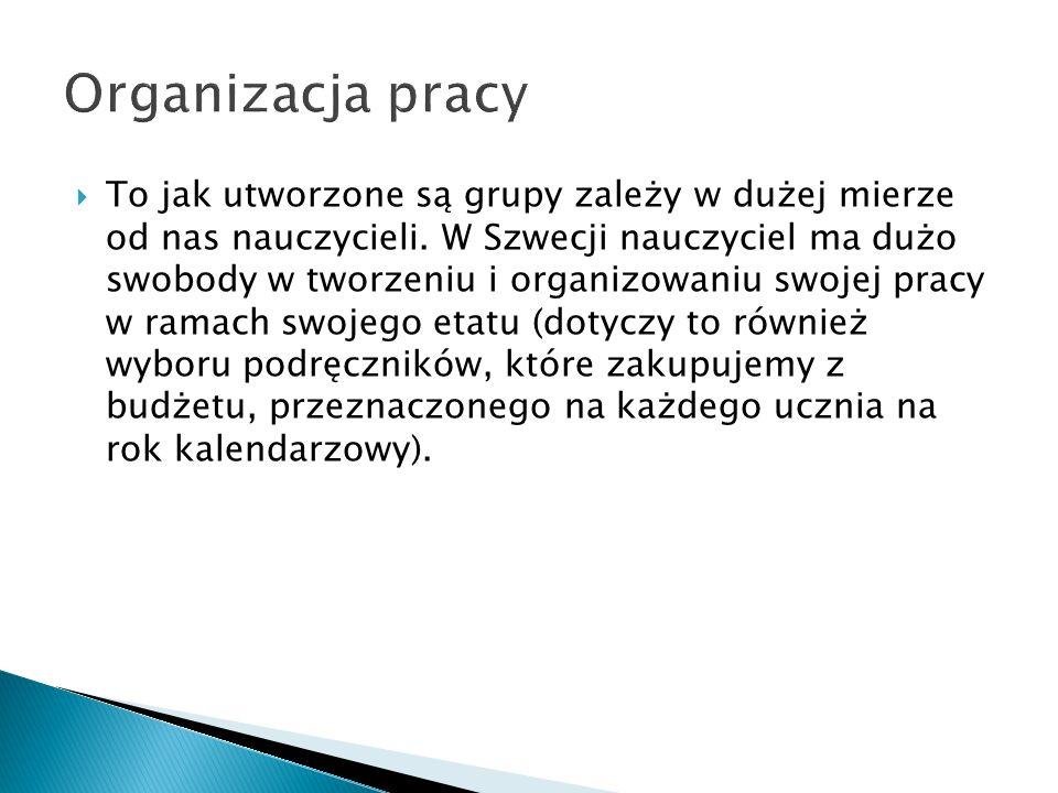 Język polski jak inne języki ojczyste wchodzi w skład programu nauczania szkoły szwedzkiej.
