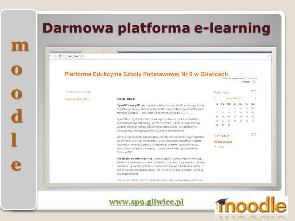 Darmowa platforma e-learning www.sp9.gliwice.pl
