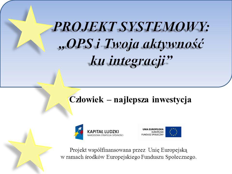 Projekt współfinansowana przez Unię Europejską w ramach środków Europejskiego Funduszu Społecznego.