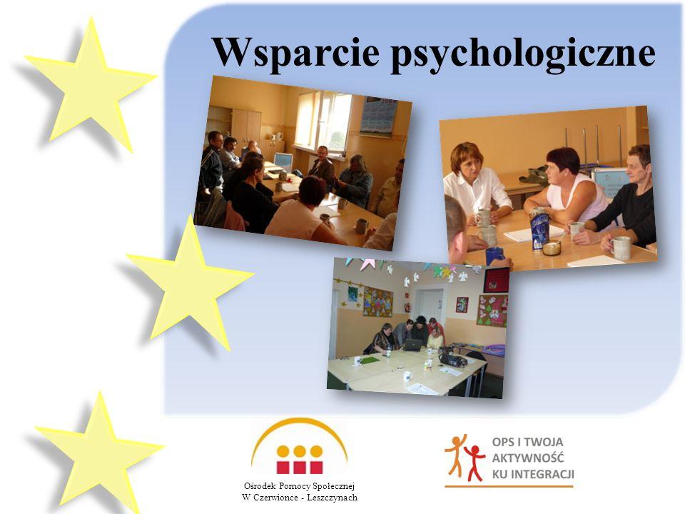 Wsparcie psychologiczne Ośrodek Pomocy Społecznej W Czerwionce - Leszczynach