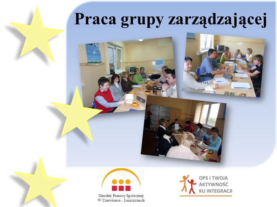 Praca grupy zarządzającej Ośrodek Pomocy Społecznej W Czerwionce - Leszczynach