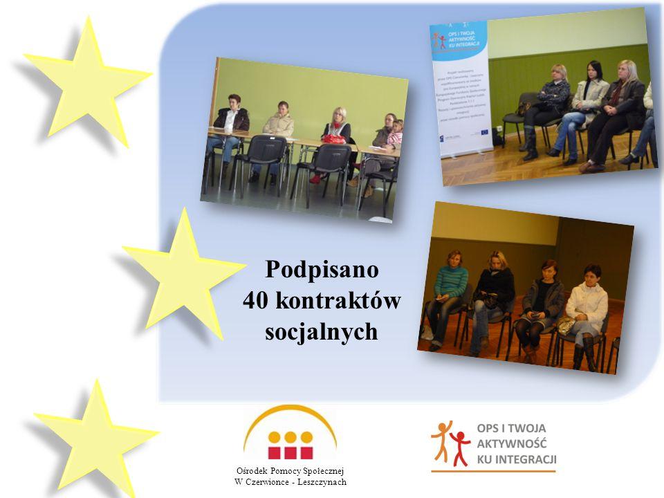 Podpisano 40 kontraktów socjalnych Ośrodek Pomocy Społecznej W Czerwionce - Leszczynach