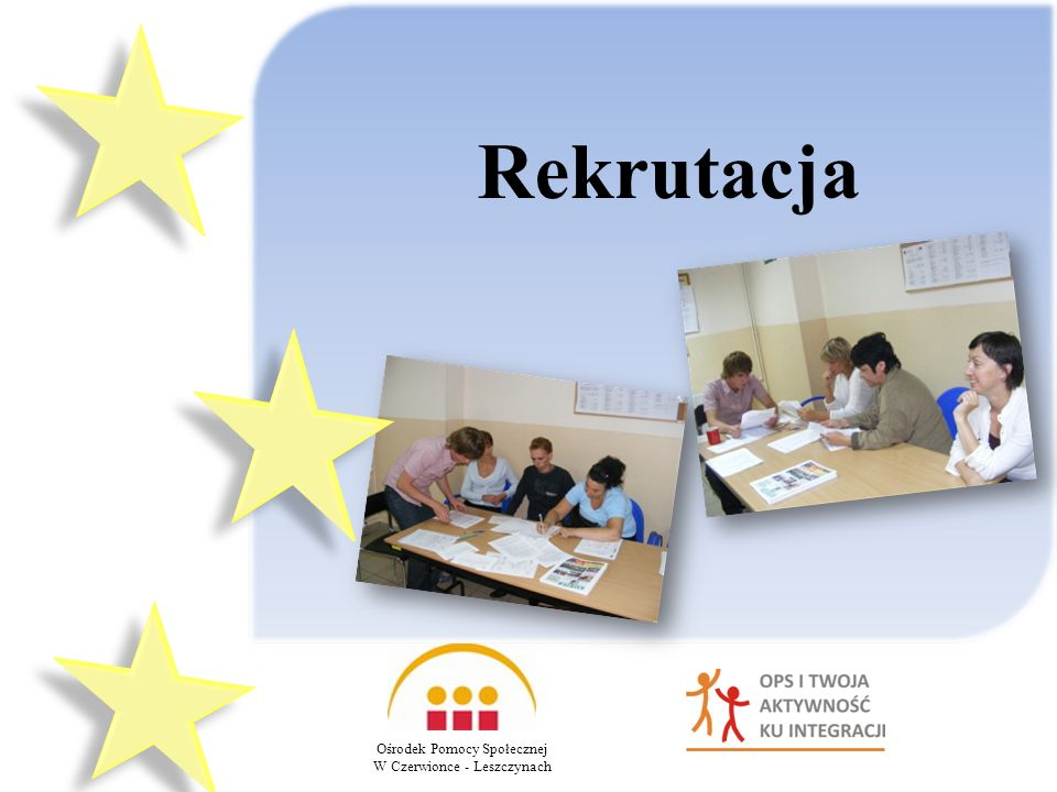Rekrutacja Ośrodek Pomocy Społecznej W Czerwionce - Leszczynach