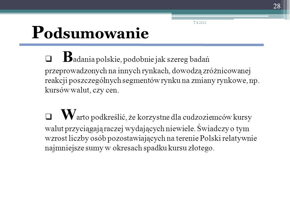 P odsumowanie B adania polskie, podobnie jak szereg badań przeprowadzonych na innych rynkach, dowodzą zróżnicowanej reakcji poszczególnych segmentów r