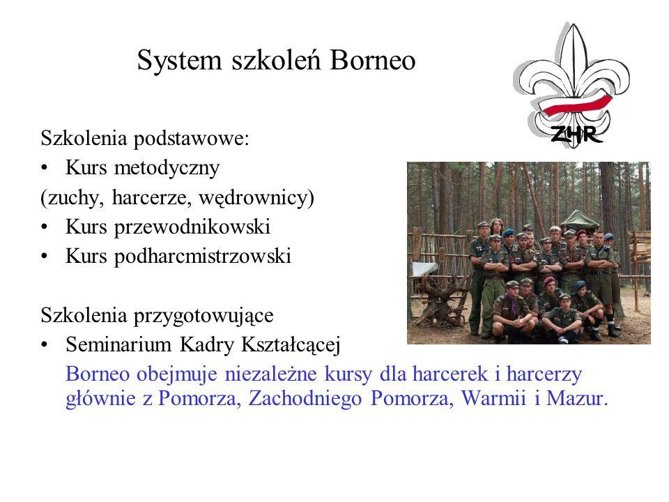 System szkoleń Borneo Szkolenia podstawowe: Kurs metodyczny (zuchy, harcerze, wędrownicy) Kurs przewodnikowski Kurs podharcmistrzowski Szkolenia przyg