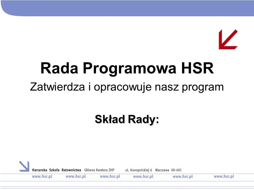 Rada Programowa HSR Zatwierdza i opracowuje nasz program Skład Rady: