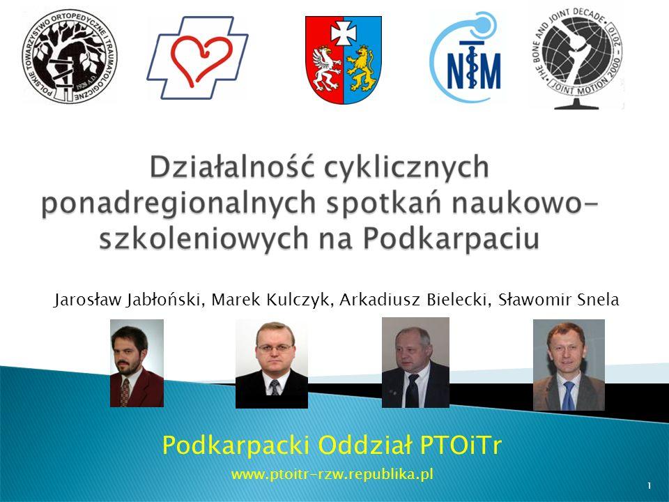 Podkarpacki Oddział PTOiTr www.ptoitr-rzw.republika.pl Jarosław Jabłoński, Marek Kulczyk, Arkadiusz Bielecki, Sławomir Snela 1