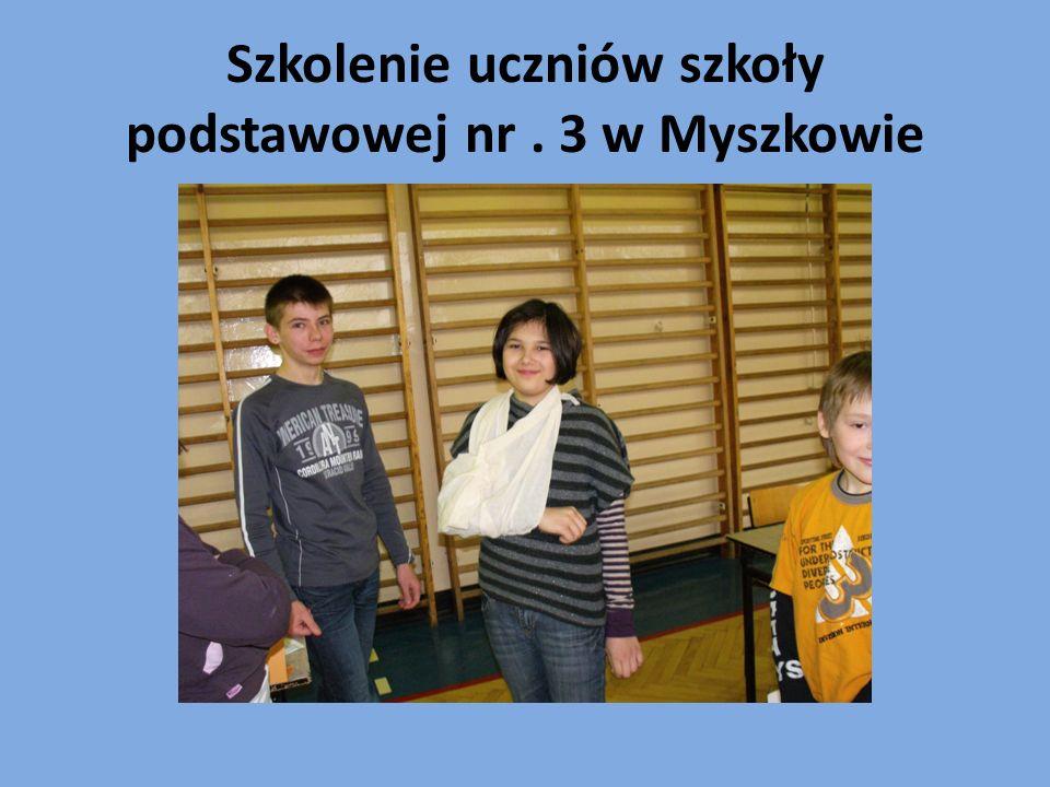 Szkolenie uczniów szkoły podstawowej nr. 3 w Myszkowie