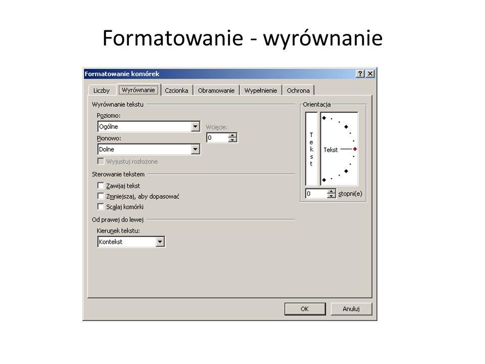 Formatowanie - wyrównanie