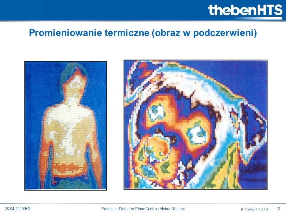 Theben HTS AG Presence Detector PlanoCentro / Heinz Rütschi28.04.2010/HR13 Promieniowanie termiczne (obraz w podczerwieni)